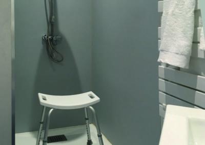 La salle d'eau côté douche